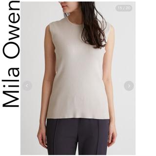 ミラオーウェン(Mila Owen)の美品 Mila Owen ミラオーウェン ニットタンク ベージュ(タンクトップ)