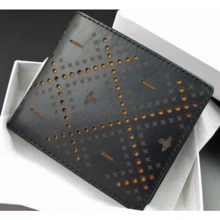 Vivienne Westwood - 送料込み☆新品☆箱付 ヴィヴィアンウエストウッド パンチング 折り財布 黒