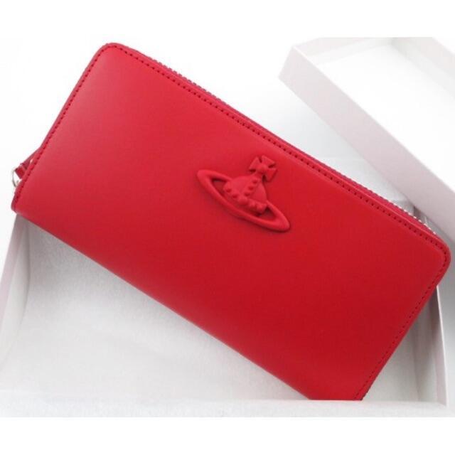 Vivienne Westwood(ヴィヴィアンウエストウッド)の1点限り★新品★箱付 ヴィヴィアンウエストウッド Rファスナー 長財布 レッド メンズのファッション小物(長財布)の商品写真