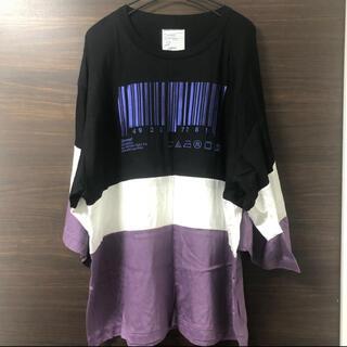 SHAREEF - SHAREEF シャリーフ シャツ Tシャツ ビッグシルエット バーコード 黒