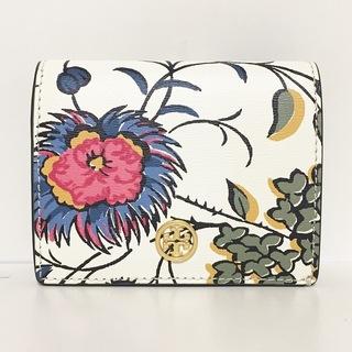 Tory Burch - トリーバーチ 2つ折り財布新品同様  - 花柄