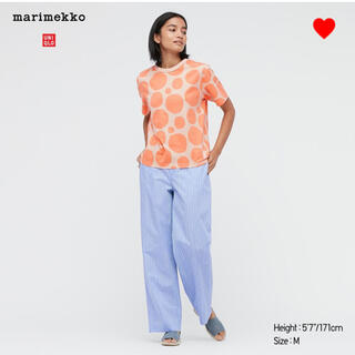 マリメッコ(marimekko)の新品】マリメッコ ユニクロ ドットTシャツ Sサイズ(Tシャツ(半袖/袖なし))