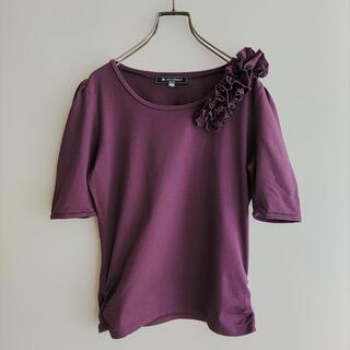 エムズグレイシー(M'S GRACY)のM'S GRACY Tシャツ 半袖 パープル エムズグレイシー(Tシャツ(半袖/袖なし))