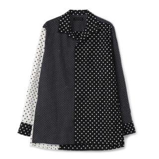 ヨウジヤマモト(Yohji Yamamoto)のS'YTE Dot Crazy Panel Open Collar Shirt (シャツ)