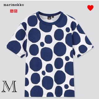 マリメッコ(marimekko)の【新品】マリメッコ ユニクロ ブルードットTシャツ Mサイズ(Tシャツ(半袖/袖なし))