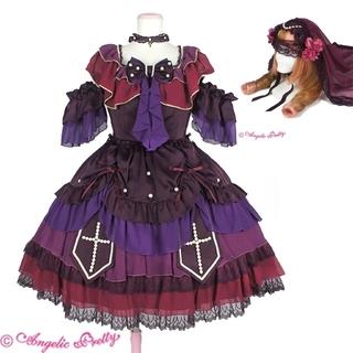 Angelic Pretty - ドレス princess dress ヴェール ベール ドレス ボルドー 紫 赤