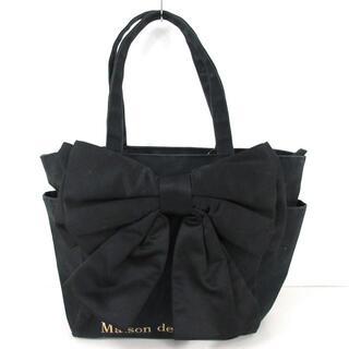 Maison de FLEUR - メゾンドフルール トートバッグ 黒 リボン