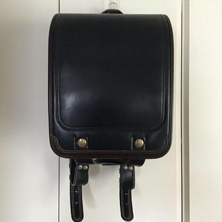 コクヨ(コクヨ)のランドセル 本革 容量大タイプ 紺 中古 状態良(ランドセル)