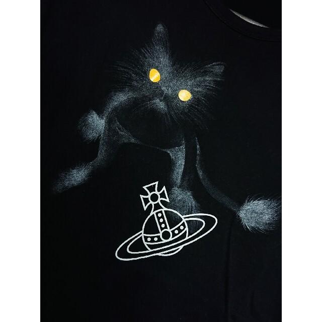Vivienne Westwood(ヴィヴィアンウエストウッド)のVivienne Westwood MAN/黒猫 キャット Tシャツ 48 メンズのトップス(Tシャツ/カットソー(半袖/袖なし))の商品写真