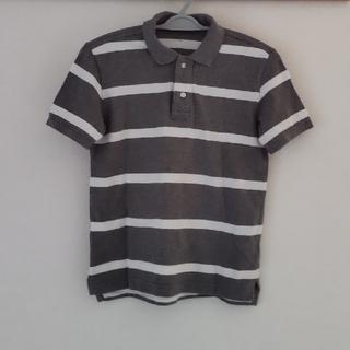 GAP Kids - 男の子 ポロシャツ  140 GAP グレー&ホワイトボーダー