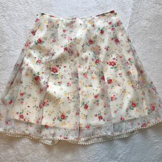 ロディスポット(LODISPOTTO)の花柄スカート サイズ2(ひざ丈スカート)