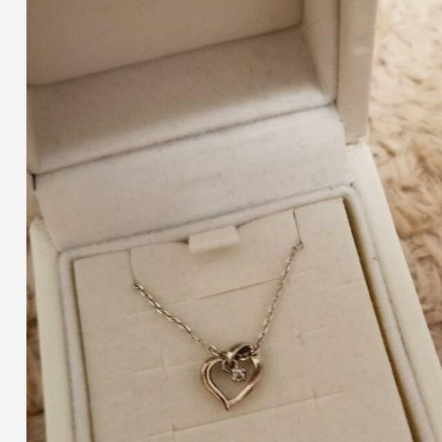 4℃(ヨンドシー)の専用✩4℃ ハート ネックレス 箱無し 美品 レディースのアクセサリー(ネックレス)の商品写真