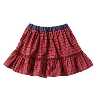 ファミリア(familiar)のファミリア リバーシブル チェック スカート 120(スカート)