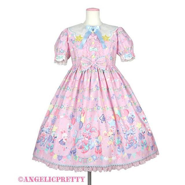 Angelic Pretty(アンジェリックプリティー)のAngelic Pretty Happy Garlandワンピース レディースのワンピース(ひざ丈ワンピース)の商品写真