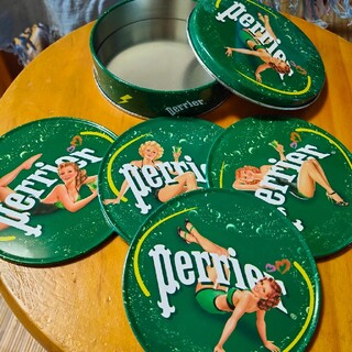 ペリエ コースター4枚組 Perrier(収納/キッチン雑貨)