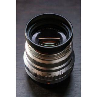 富士フイルム - 富士フイルム FUJI XF35mm f2 銀 元箱付属品完備 おまけ付