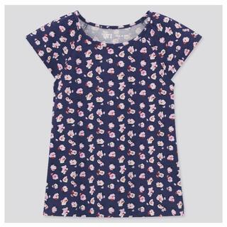 UNIQLO - 新品 ユニクロ ポール&ジョー 半袖Tシャツ 女の子 110センチ ネイビー