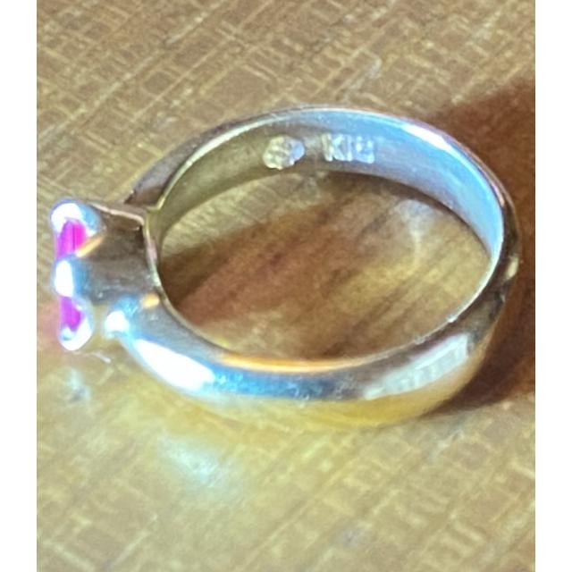 18K 極小ピンキーリング 【直径1㌢】 レディースのアクセサリー(リング(指輪))の商品写真