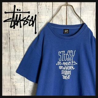 STUSSY - 【大人気デザイン☆ビッグサイズ】ステューシー センターロゴ Tシャツ 半袖