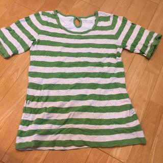 インザグルーヴ(in the groove)のin the groove ボーダーTシャツ グリーン(Tシャツ(半袖/袖なし))