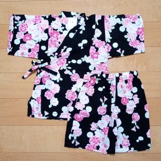 ニシマツヤ(西松屋)の女の子 甚平 花柄 サイズ100cm(甚平/浴衣)