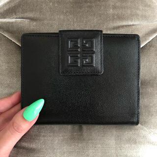 GIVENCHY - ジバンシー 💚 ロゴ レザー ヴィンテージ 折り財布