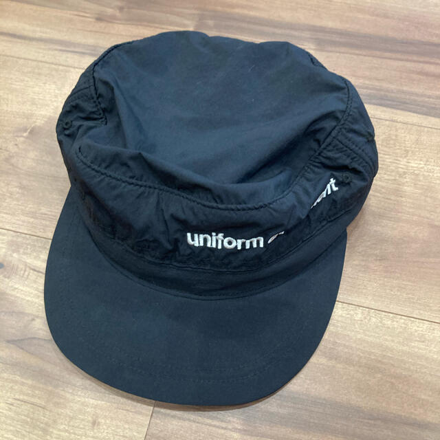 uniform experiment(ユニフォームエクスペリメント)のUniform Experiment ワークキャップ 黒 メンズの帽子(キャップ)の商品写真