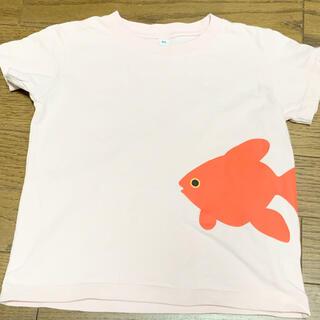 ムジルシリョウヒン(MUJI (無印良品))のMUJI ベビー80 ★ 金魚柄ピンクTシャツ ★美品(Tシャツ/カットソー)