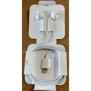 アイフォーン(iPhone)の【新品未使用】iPhone純正付属イヤホン ライトニング(ヘッドフォン/イヤフォン)