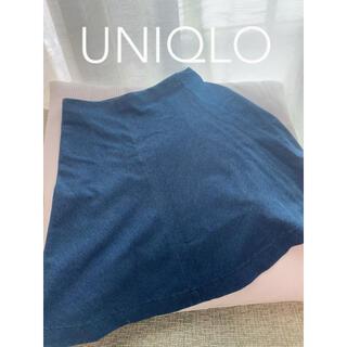 ユニクロ(UNIQLO)のユニクロ UNIQLO デニムスカート(ミニスカート)