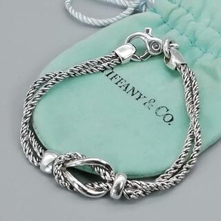Tiffany & Co. - 希少 美品 ヴィンテージ ティファニー ノット ブレスレット VA48