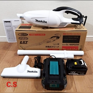 Makita - 新品・未使用 マキタ 18V充電式クリーナー 充電器セット 掃除機