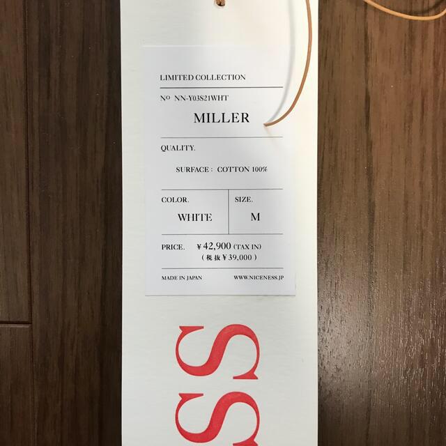 COMOLI(コモリ)の【新品】21ss niceness  miller メンズのトップス(シャツ)の商品写真