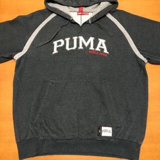 プーマ(PUMA)のプーマ スウェット パーカー フーディー 刺繍ロゴ ビッグシルエット M(パーカー)