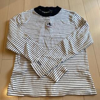 ヘザー(heather)のボーダートップス【ミッキー】【heather】(Tシャツ(長袖/七分))