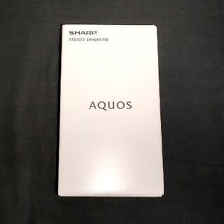 アクオス(AQUOS)のAQUOS sense4 lite(黒)スマホ本体·SIMフリー(スマートフォン本体)