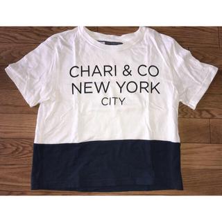 ビームス(BEAMS)のCHARI & CO. NYC チャリアンドコー  BI-TONE CROP T(Tシャツ(半袖/袖なし))
