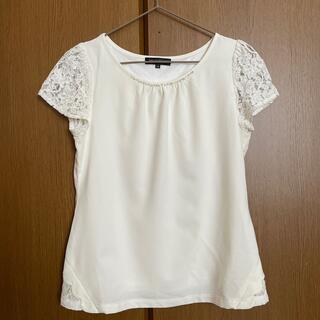 ミッシュマッシュ(MISCH MASCH)のMISCH MASCH 白レースTシャツ(Tシャツ(半袖/袖なし))