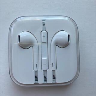 アイフォーン(iPhone)の新品iPhoneイヤホン正規品(ヘッドフォン/イヤフォン)
