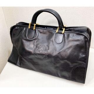 ロエベ(LOEWE)のロエベ 伊製 レザー 黒 ボストンバッグ 18630701(ボストンバッグ)