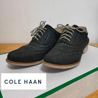 コールハーン(Cole Haan)のコールハーン オックスフォードシューズ レディース ヌバック 23.5cm 黒(ローファー/革靴)