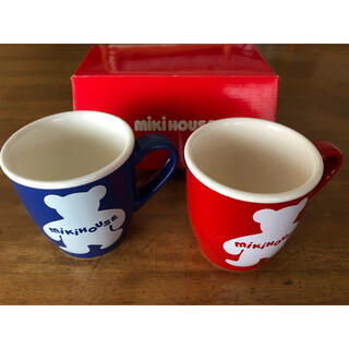 ミキハウス(mikihouse)のミキハウス マグカップ2個組 新品未使用(グラス/カップ)