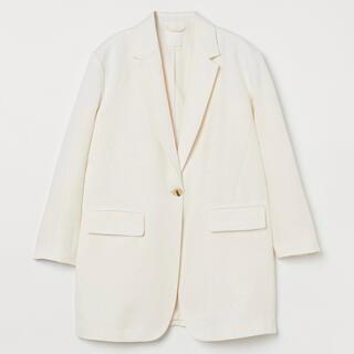 エイチアンドエム(H&M)のリネンブレンド オーバーサイズ ジャケット(テーラードジャケット)