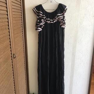 ダブルスタンダードクロージング(DOUBLE STANDARD CLOTHING)の新品ダブルスタンダード☆チュールフリルロングワンピース(ロングワンピース/マキシワンピース)