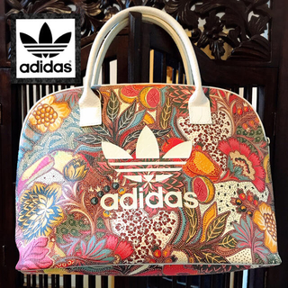 adidas - アディダス ファーム 希少 パイソンレザー 花柄 ハンドバッグ トートバッグ