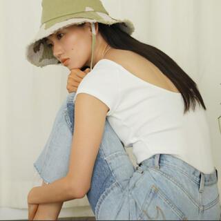 シールームリン(SeaRoomlynn)の美品☺︎シールームリン  searoomlynn パッドInバックUカットソー白(Tシャツ(半袖/袖なし))