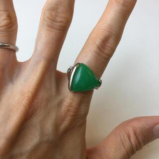ロキエ(Lochie)のヴィンテージ ビンテージ vintage リング 指輪 シルバー 緑 グリーン(リング(指輪))