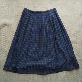 ミナペルホネン(mina perhonen)のミナペルホネン sora checkスカート 36(ひざ丈スカート)