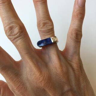 ロキエ(Lochie)のヴィンテージ ビンテージ リング ブルー ネイビー シルバー(リング(指輪))