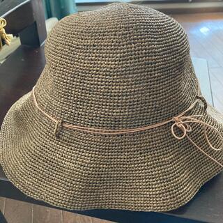 ムジルシリョウヒン(MUJI (無印良品))の無印良品 帽子 ラフィア キャベリン(麦わら帽子/ストローハット)